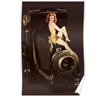 (✿◠‿◠) VINTAGE RETRO STYLE POSE AND CAMERA (✿◠‿◠) Poster