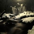 Misty Frozen Waterfalls by KellyHeaton
