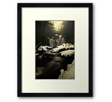 Misty Frozen Waterfalls Framed Print