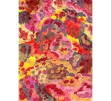 RED AND YELLOW PATTERNS ABSTRACT Photographic Print