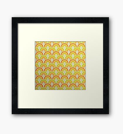 Retro Wallpaper Framed Print