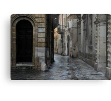 Streetscape in Baroque Metal Print