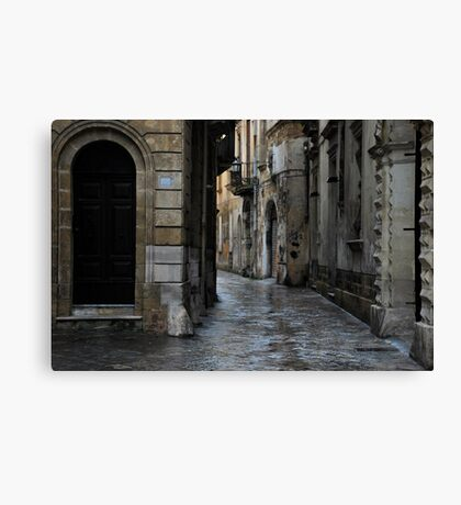 Streetscape in Baroque Canvas Print