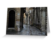Streetscape in Baroque Greeting Card