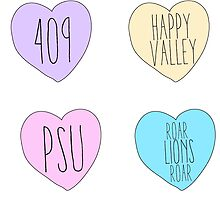 penn state candy hearts by lolosenese
