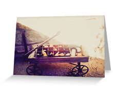 Exposed Wagon Greeting Card