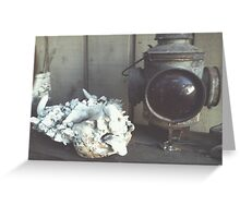 Antique Stop Light Greeting Card