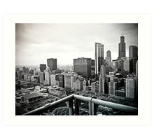 A View of Chicago Art Print