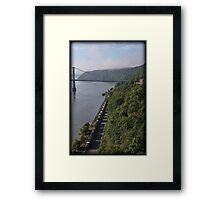 Foggy Rail Morning Framed Print