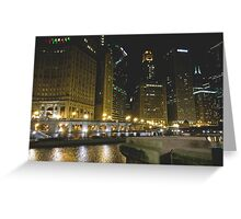 City River Lights Greeting Card