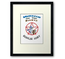 the regular show mordecai and the rigbys Framed Print