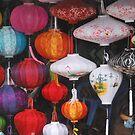 Silk lanterns Hoi An Vietnam by Julie Sherlock