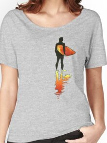Surfing - Red Women's Relaxed Fit T-Shirt