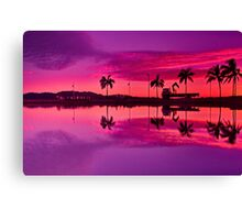 """Tropical Pastel Morn"" Canvas Print"