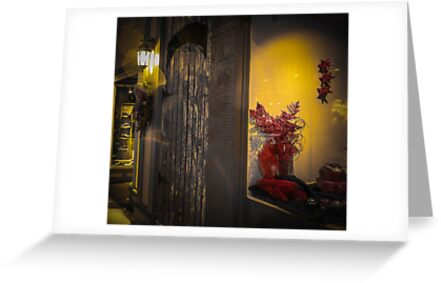 Red Flowers/Yellow Light by Scott Ruhs