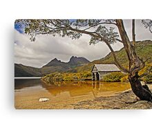 Boatshed Beach, Dove Lake, Cradle Mountain Canvas Print