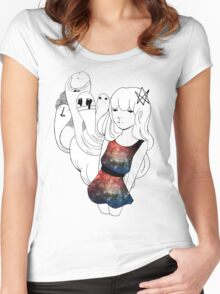 Galaxy Gum  Women's Fitted Scoop T-Shirt