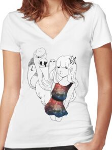 Galaxy Gum  Women's Fitted V-Neck T-Shirt