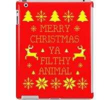 Merry Christmas Ya Filthy Animal iPad Case/Skin