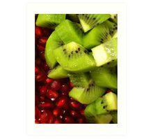 Kiwi & Pomegranate salad Art Print