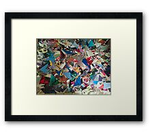 Triangle Explosion Framed Print