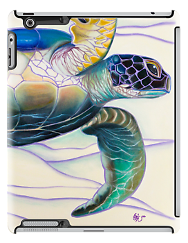 Honu (sea turtle): iPad 2/ iPad (Retina Display) case by Emi Nakamura