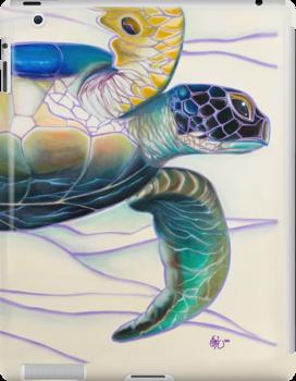 Honu (sea turtle): iPad 2/ iPad (Retina Display) case by Emi Nakamura
