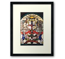 Coat of Arms in Glass Framed Print