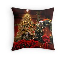Glittering Decorations Throw Pillow
