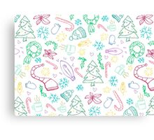 Holiday Doodles Canvas Print