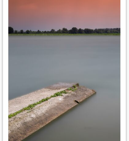 Sunset on the lakes of Mantua Sticker