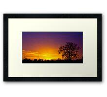 Tree Sunrise Silhouette Framed Print