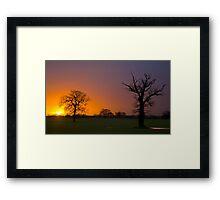 Sunrise Silhouette Framed Print