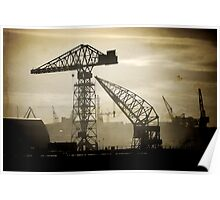 Cranes On the Tyne Poster