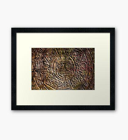 Mayan Calender Framed Print