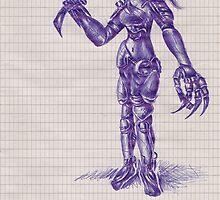 cyborg chick by ste1144