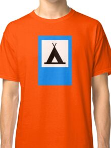Camping - Road Sign Classic T-Shirt