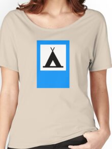 Camping - Road Sign Women's Relaxed Fit T-Shirt