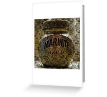 Marmite Gold with Tiles Greeting Card