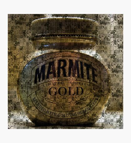 Marmite Gold with Tiles Photographic Print