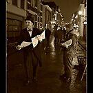 Victorian Newspaper Sellers by patjila
