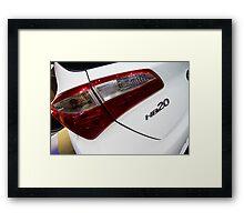 Hyundai HB20 Back Light [ Print & iPad / iPod / iPhone Case ] Framed Print