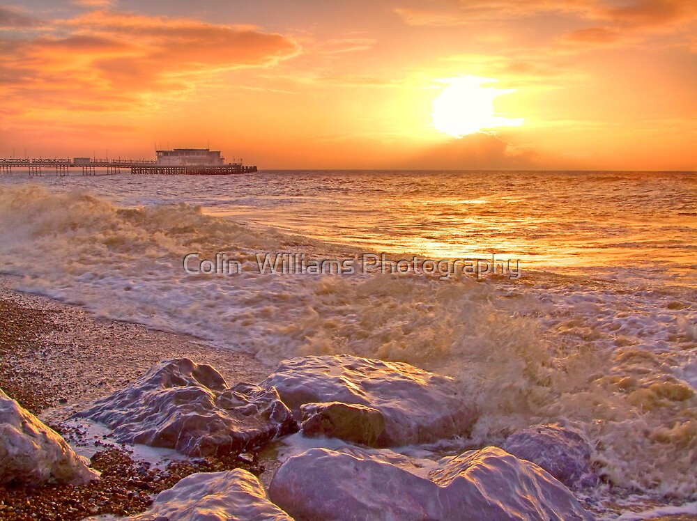 Worthing Beach Sunrise 2 - Boxing Day 2012 - HDR by Colin  Williams Photography