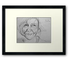 this is me - from the sketchbook Framed Print