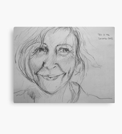 this is me - from the sketchbook Canvas Print