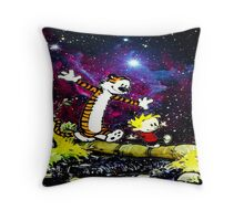 Calvin and hobbes happy Christmas Throw Pillow
