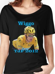 Bradley Wiggins - Tour de France 2012 Women's Relaxed Fit T-Shirt