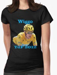 Bradley Wiggins - Tour de France 2012 Womens Fitted T-Shirt