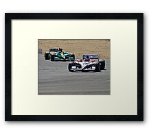Competition in Turn 8 Framed Print