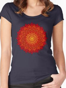 okshirahm rose mandala Women's Fitted Scoop T-Shirt